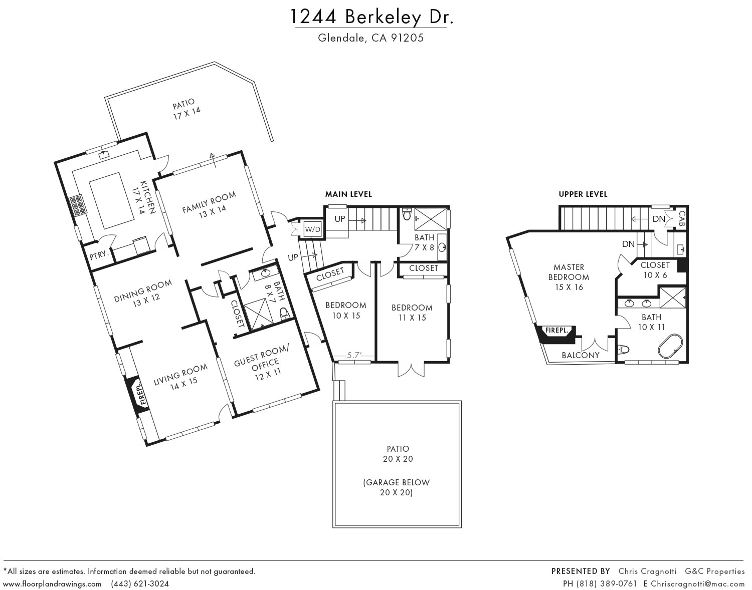 1244 Berkeley Dr Floorplan