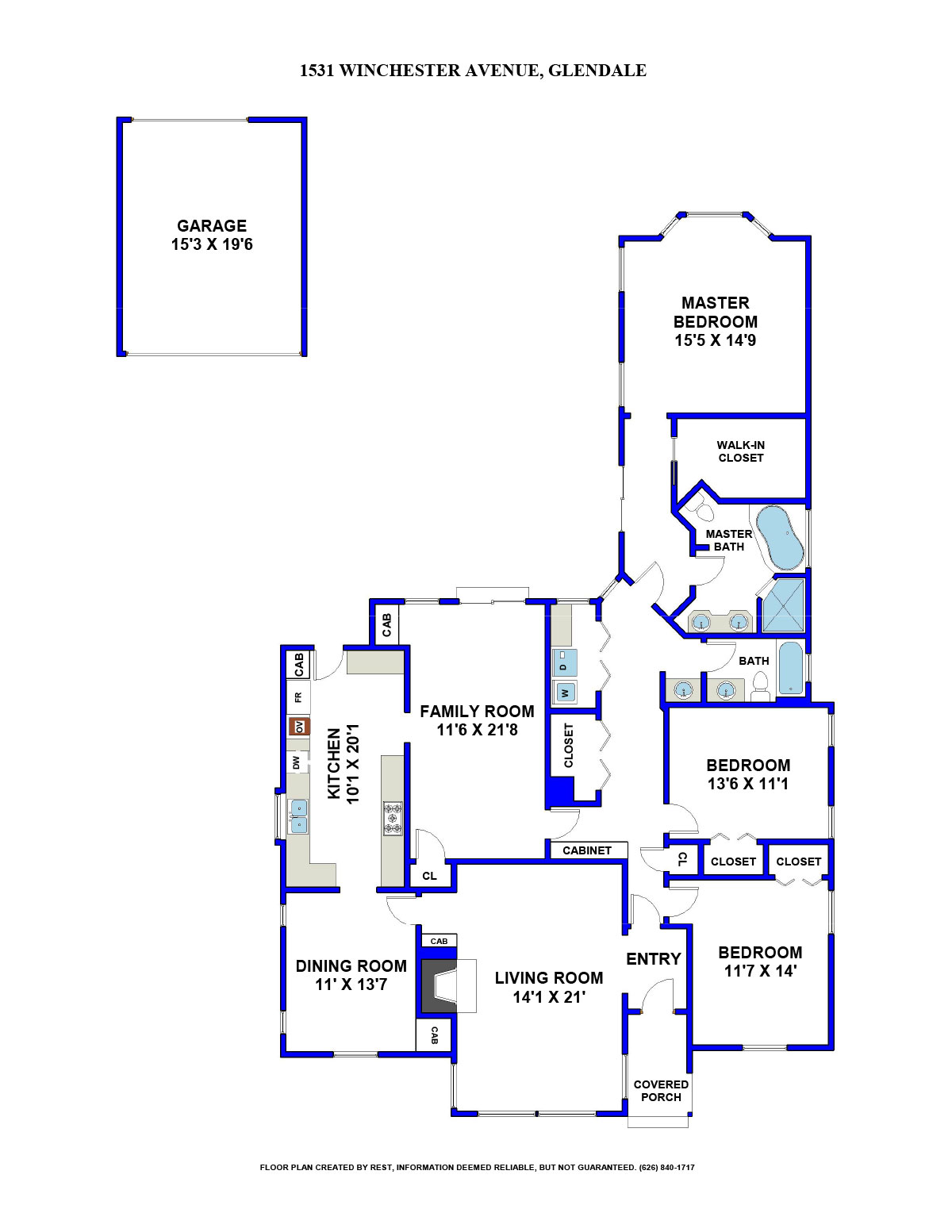 1531 Winchester Ave Floorplan
