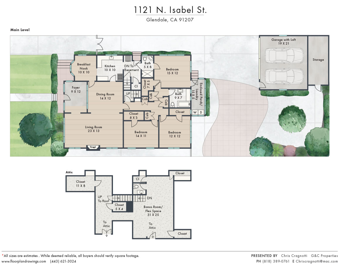 1121 N Isabel Floorplan